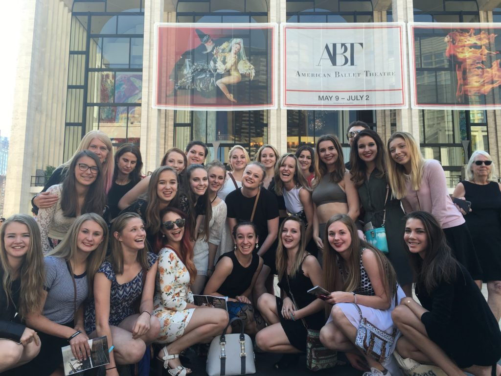 Group of RMDT dancers pose in front of ABT