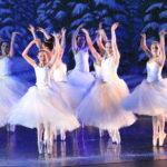 RMDT Ballerinas on pointe during Snow Dance in 2015 Nutcracker